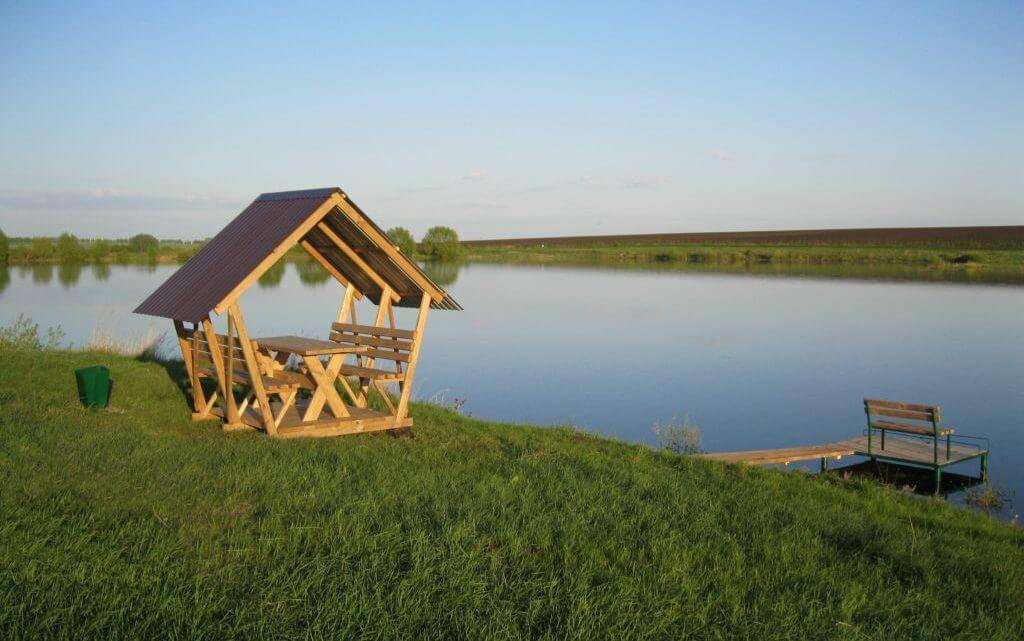 Рыбалка в Воронежской области пруд в Перлевке